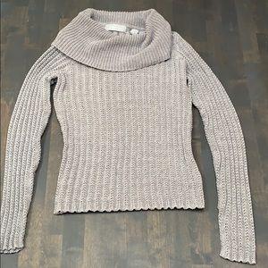 Grey Liz Claiborne Cowl Neck Sweater
